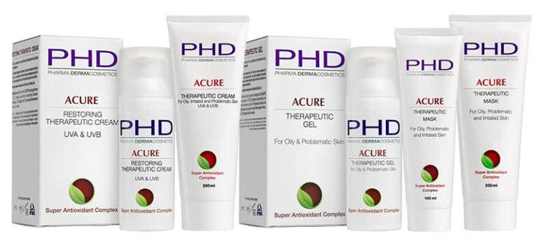 Линия ACURE космецевтики PHD Pharma Dermacosmetics