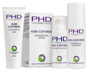 Линия ALBA CONTROL космецевтики PHD Pharma Dermacosmetics