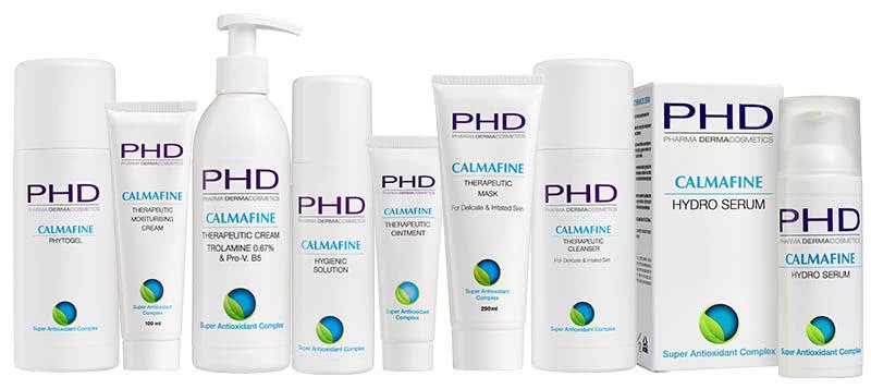 Линия CALMAFINE космецевтики PHD Pharma Dermacosmetics