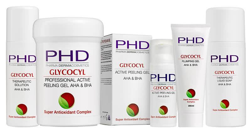 Линия GLYCOCYL космецевтики PHD Pharma Dermacosmetics