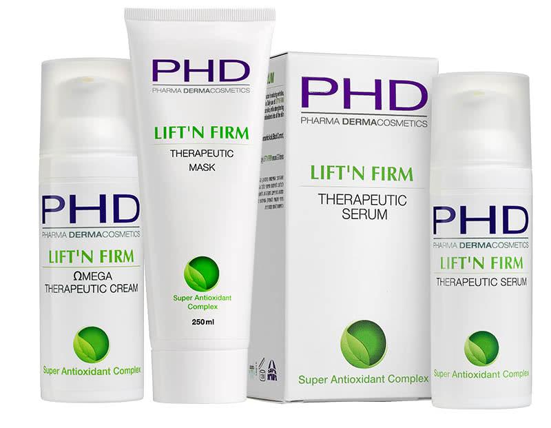 Линия LIFT'N FIRM космецевтики PHD Pharma Dermacosmetics